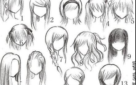 【板绘】各式各样的妹纸(头发)随你选_绘画_生活__哔图片图片