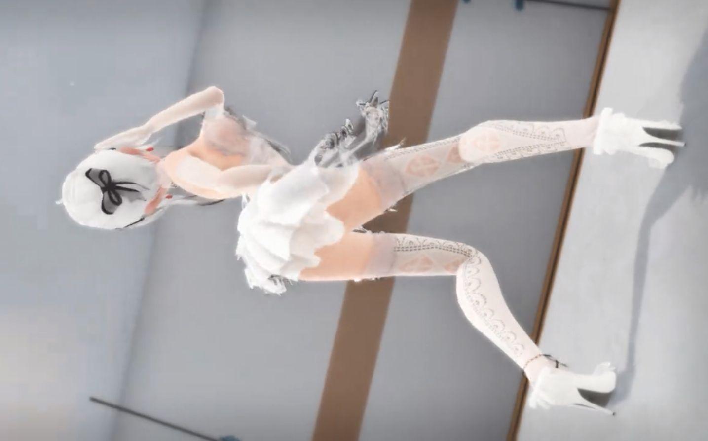 【让我先舔!】白色超短裙弱音姐姐的性感热舞!