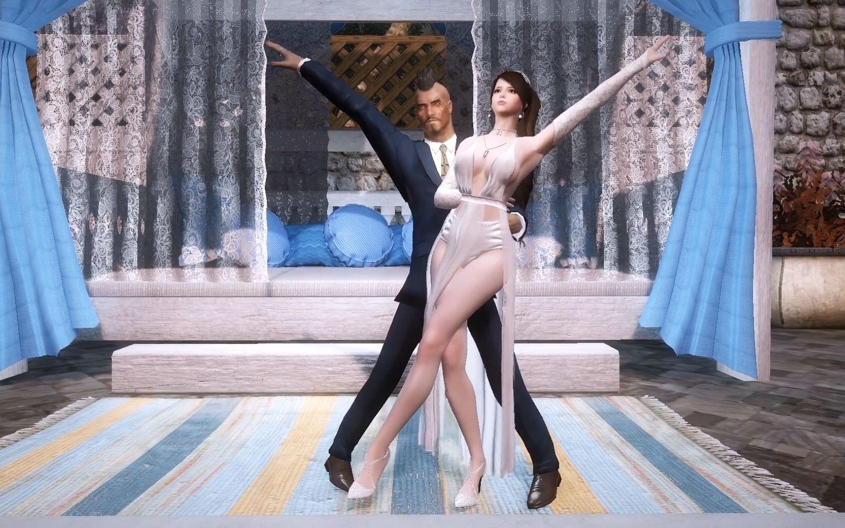 上古卷轴5 男女双人舞来一个,移植Cantarella,帅气根宝亲自上。