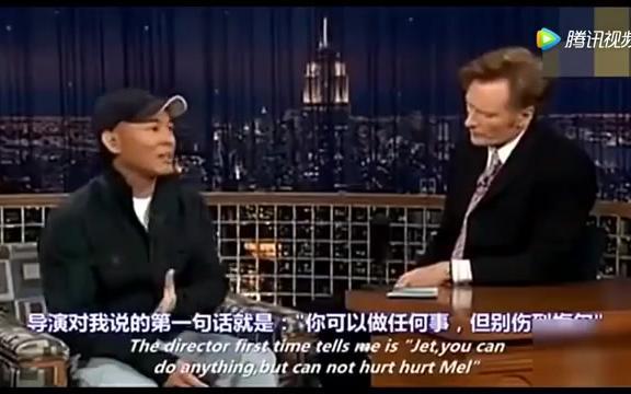 国外主持人聊功夫,李连杰微微一笑打出七!,老外只看见两拳!