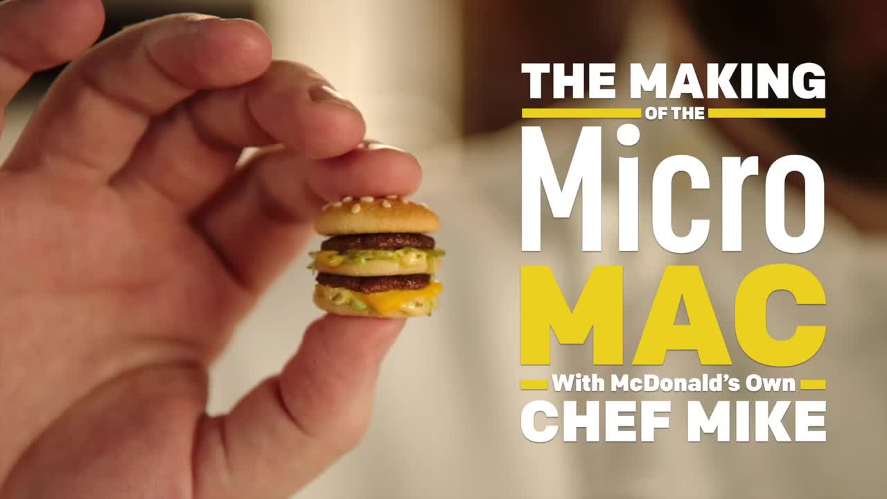 麦当劳推出最小的汉堡,一口一个啊!