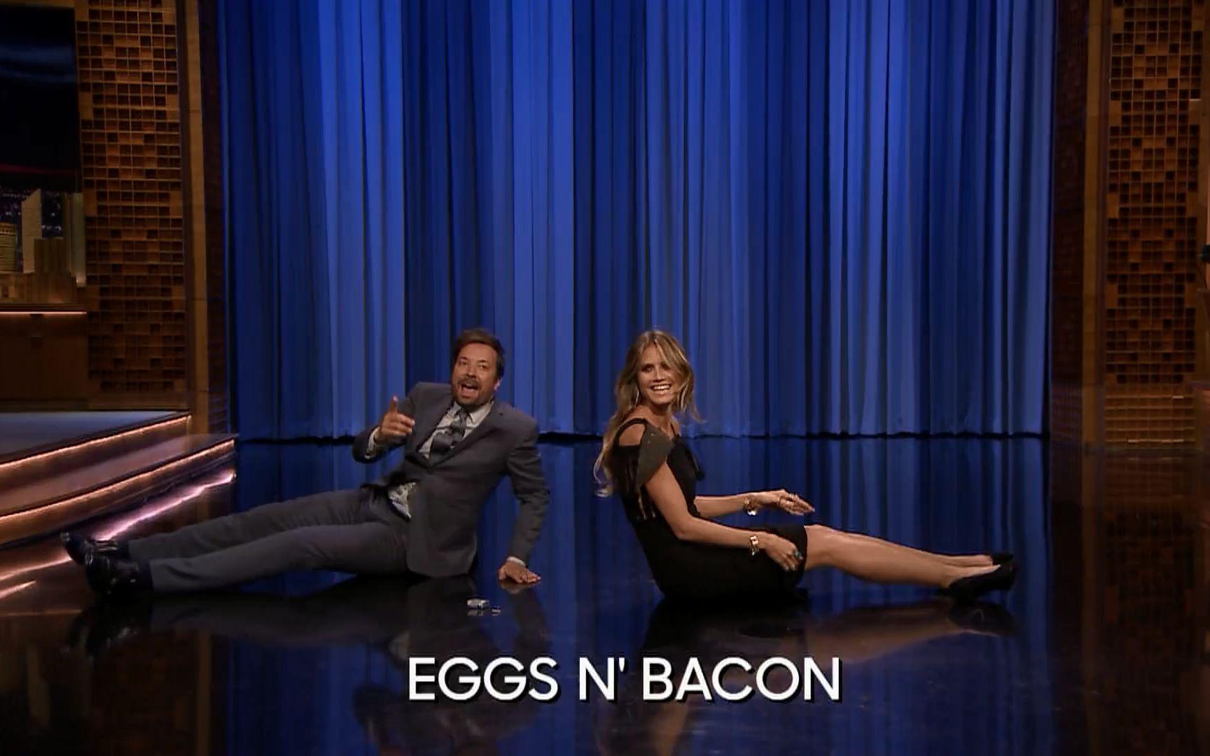 【维密天使综艺】肥伦与海妈的尬舞大战!Dance Battle with Heidi Klum!【1080P】