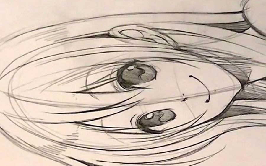 铅笔画短发女生头像分享展示图片