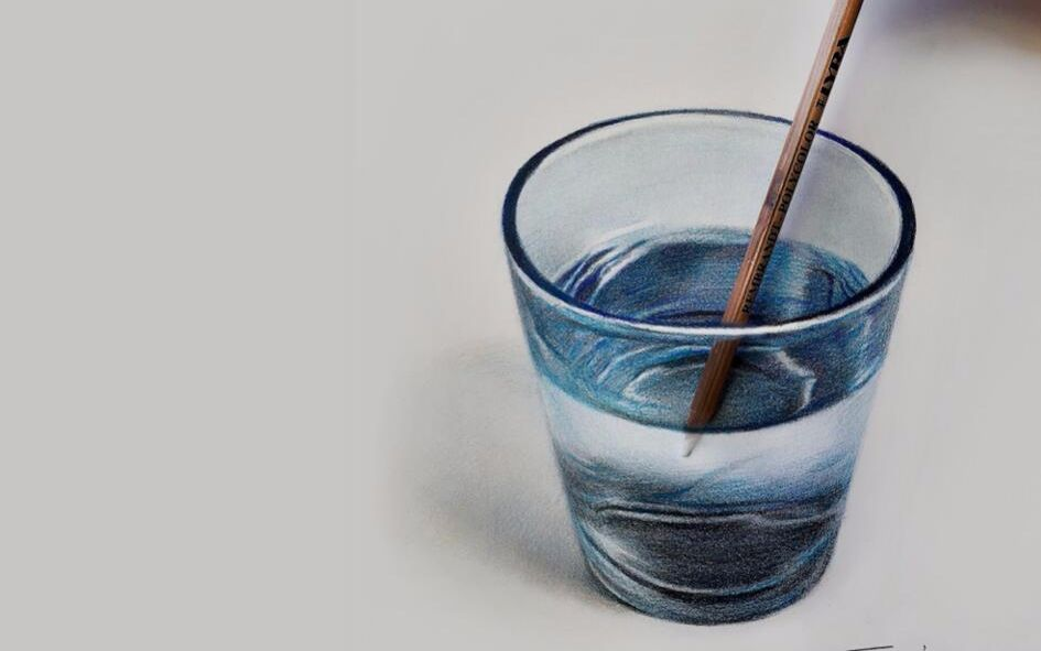 【艺问艺答】玻璃杯示范——子小伟老师图片