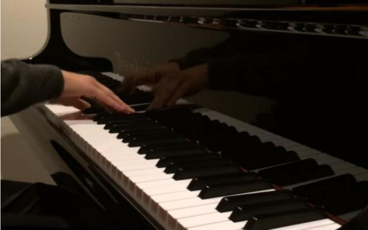 【yū@ganbaranai】苍之彼方的四重奏op 钢琴版(动画op&游戏op)