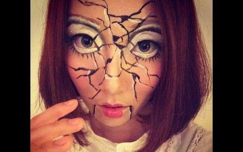 「西西」恐怖破碎陶瓷娃娃妆- 万圣节造型2014 微博:sisi曾西西西