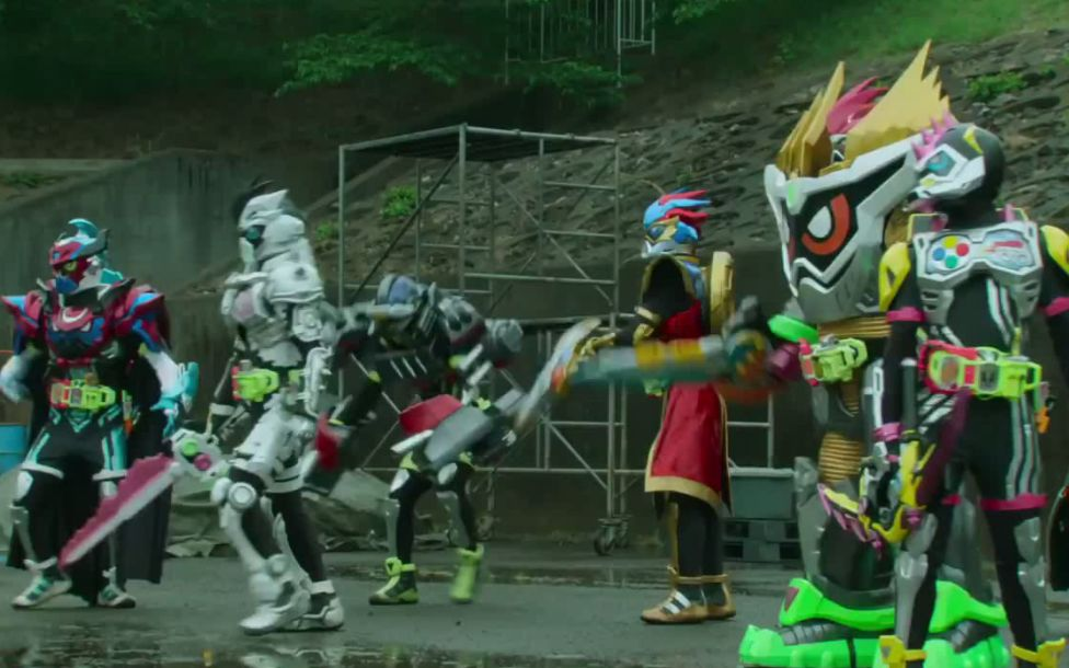 [剧场版] 假面骑士Ex-Aid 真正的结局 6人同时变身VSTV出场大叔变的Bugster (最终Boss)
