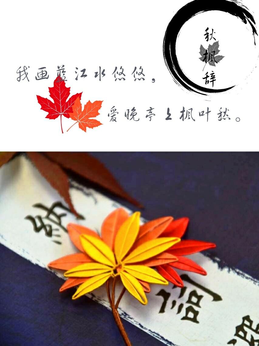 像盒子麻麻请教了很多问题,终于把枫叶系列缠花做好了~前后差不多用图片