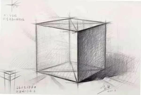 素描教程|新手怎么画素描正方体图片