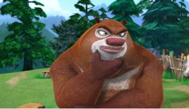 动画片熊出没中,光头强在面对坏人时拯救所有小动物的
