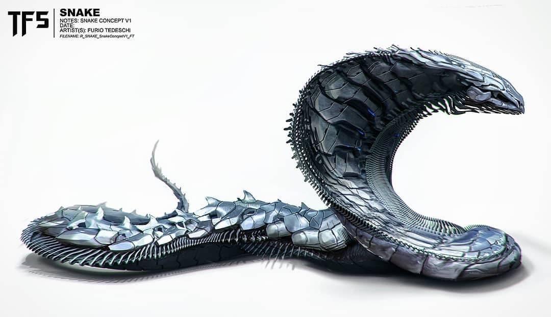 「巨蛇」概念(电影中未采用)