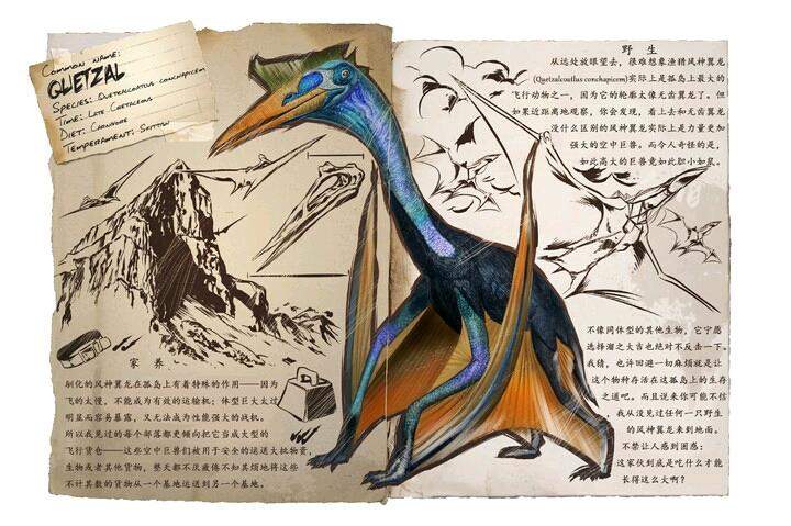 描写风神翼龙的笔记