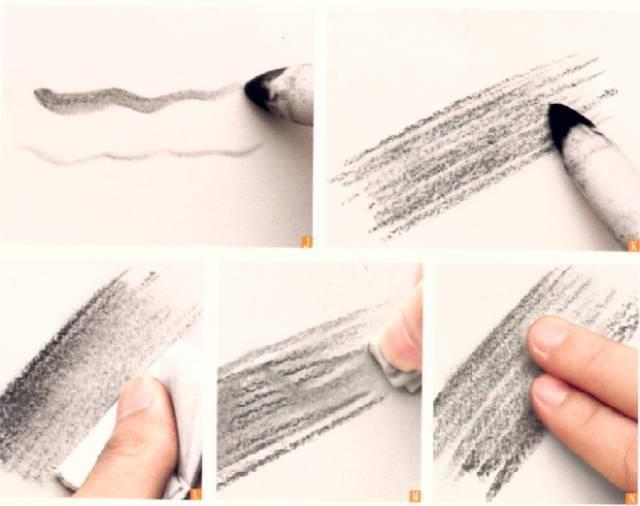 l.用折叠的纸巾垂直排线轻擦图片
