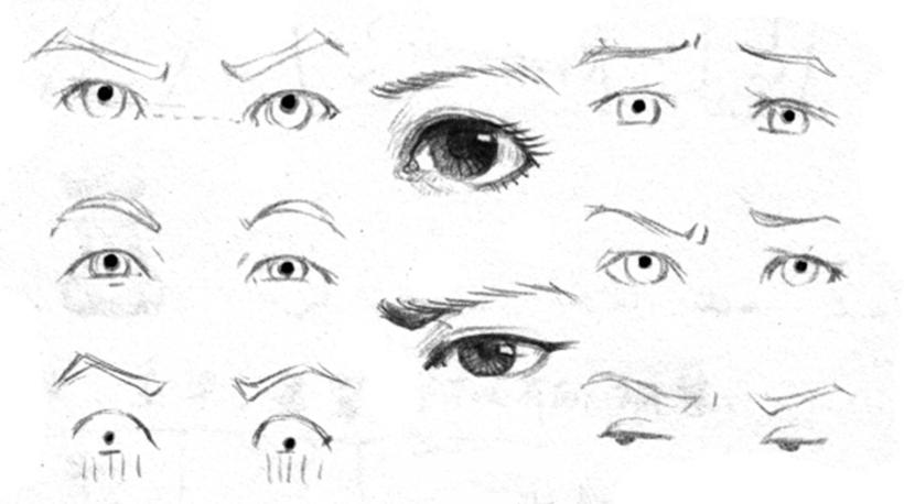 【超强画法!表情人体及动态表情头部】从0开始王国脸换五官大全包干货包图片