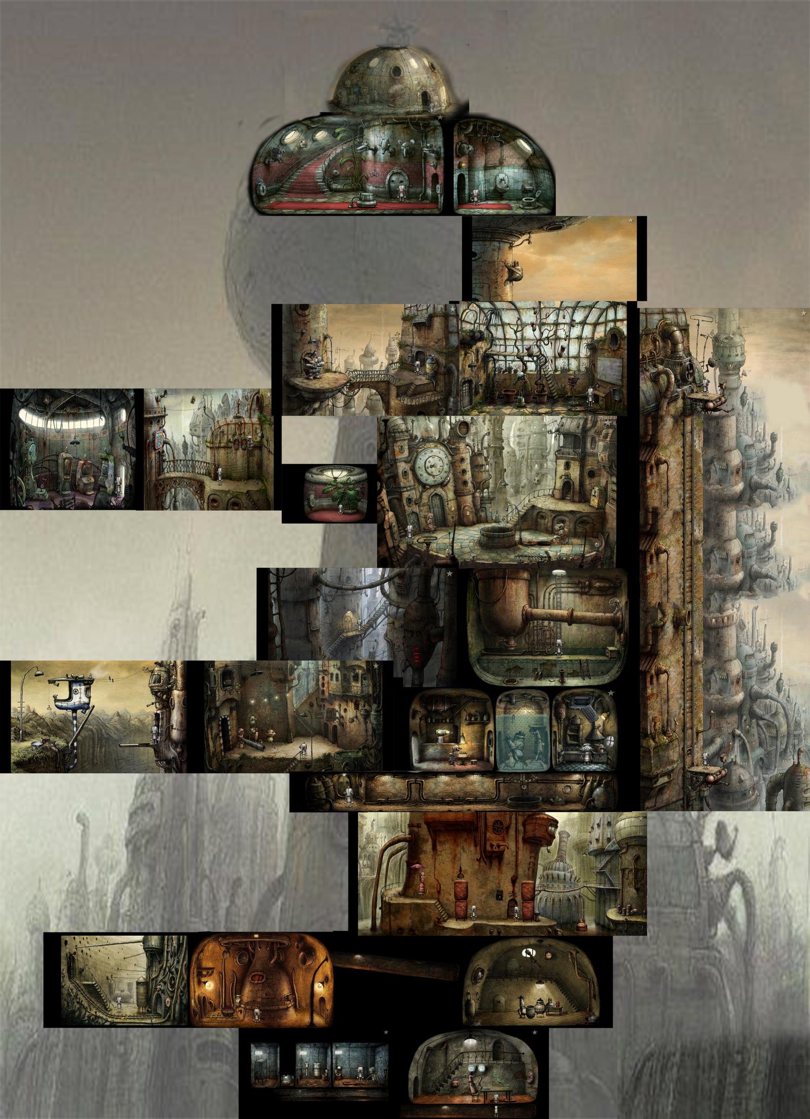 机械迷城 全景地图