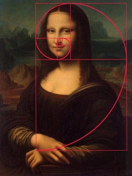 像我们熟知的世界名作蒙娜丽莎用的就是黄金螺旋构图法图片