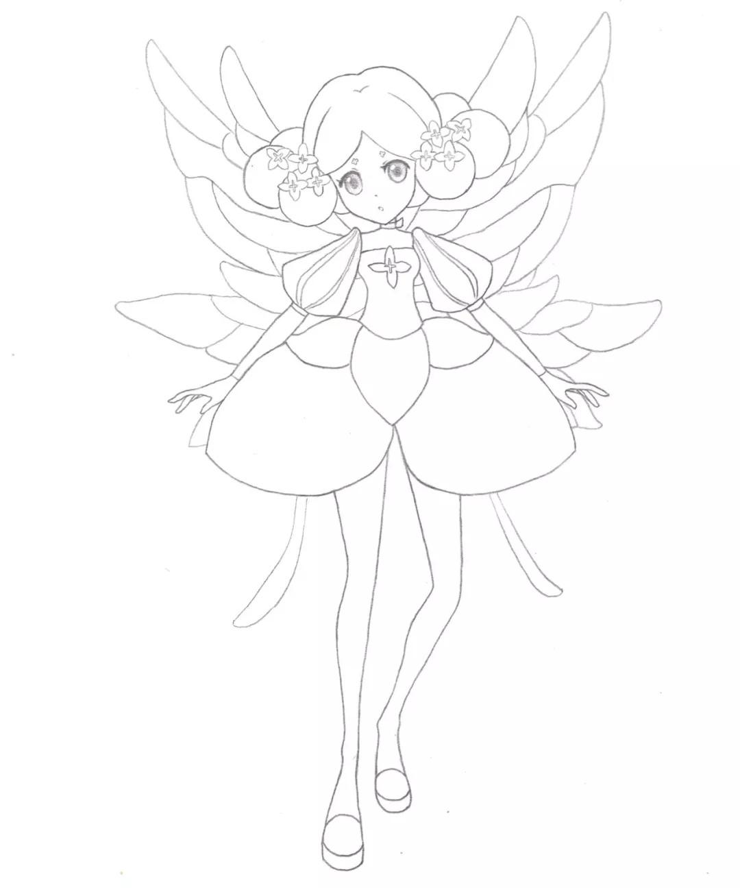 【绘画】如何绘画小花仙中的精灵王——百结图片