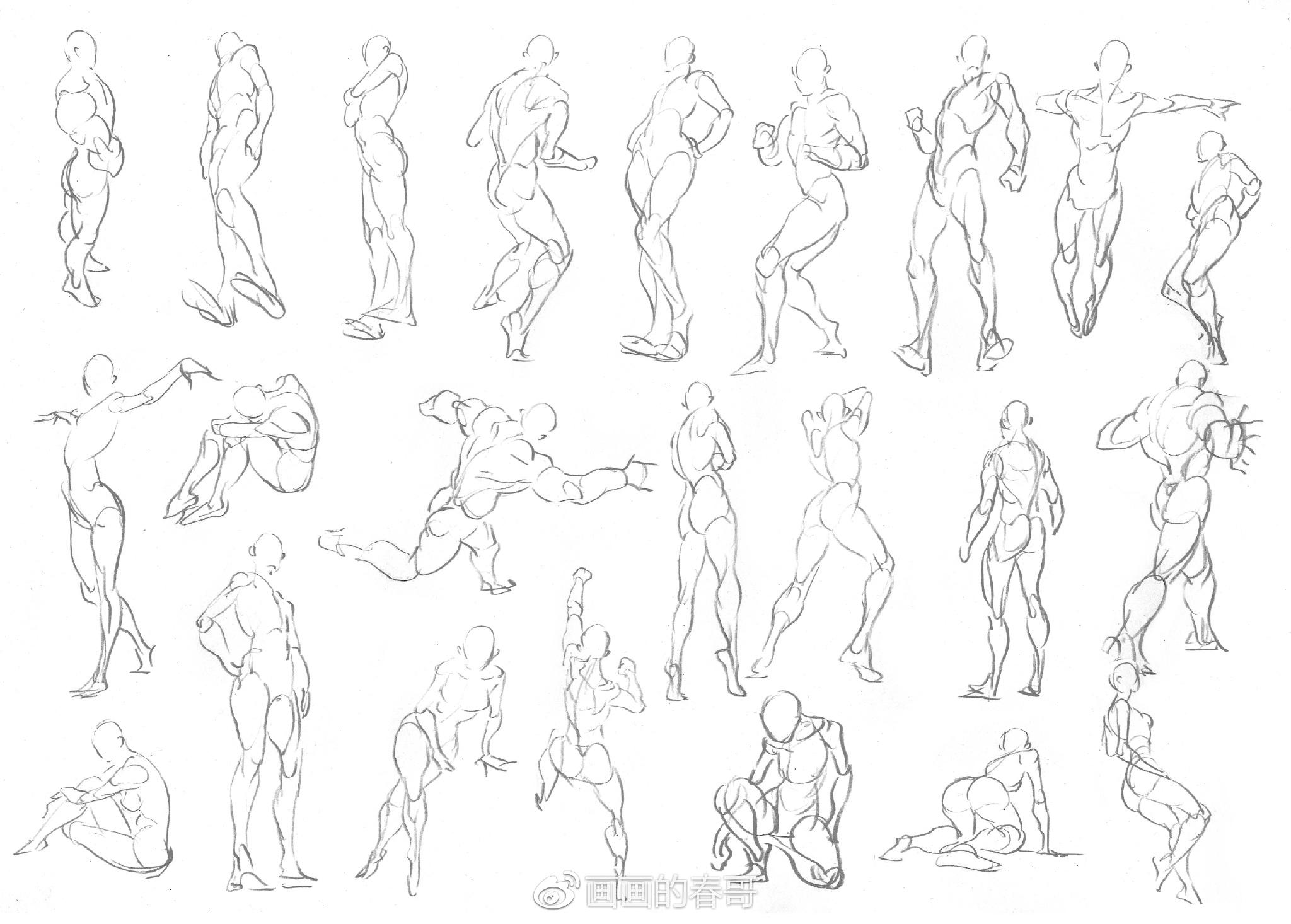 动漫人体结构_给准备从事游戏动漫行业的你们——人体结构联系及角色创作