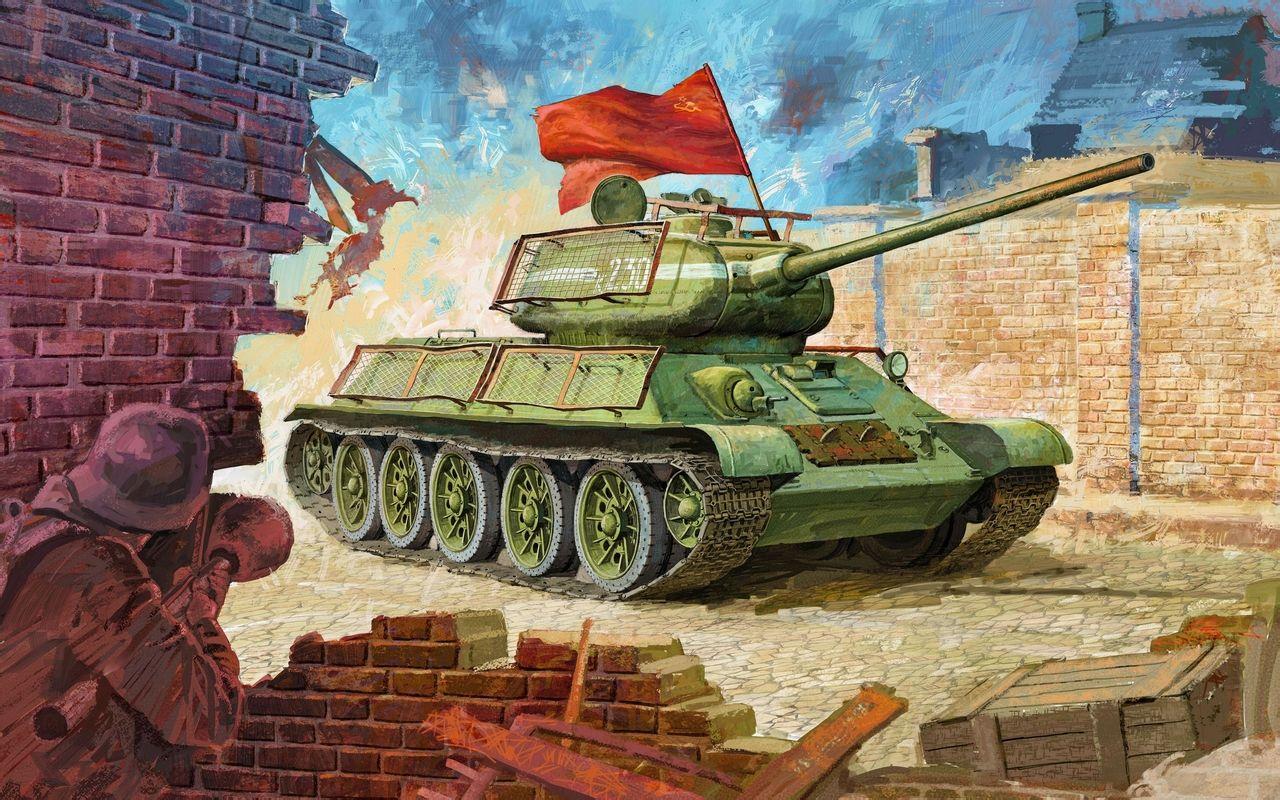 战后运用 第二次世界大战后,苏军中t-34坦克直到20世纪50年代才被t-5