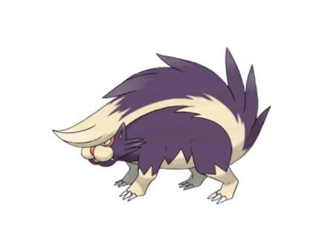 《精灵宝可梦》图鉴435:可以从尾巴喷射毒液的精灵——坦克臭鼬