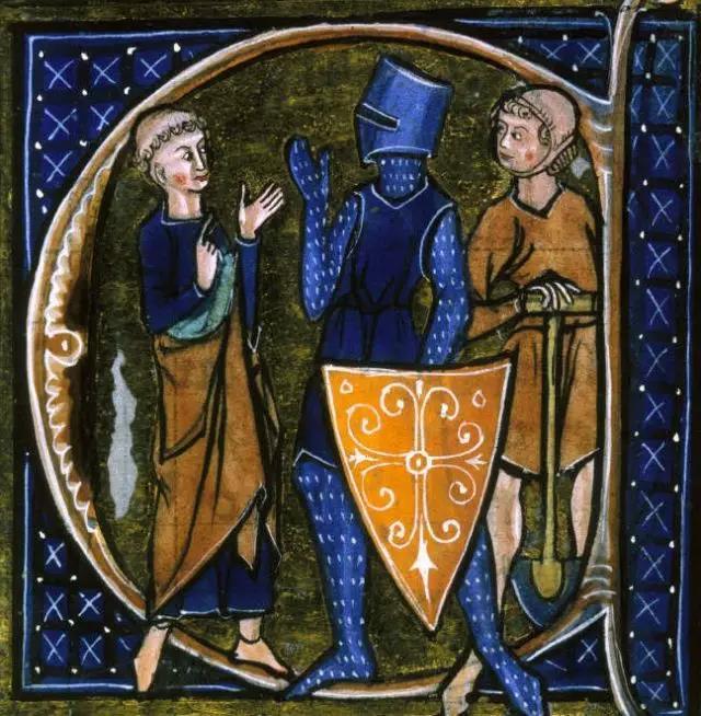 典型的中世纪社会体系:教士,骑士与农民,没有商人的位置图片