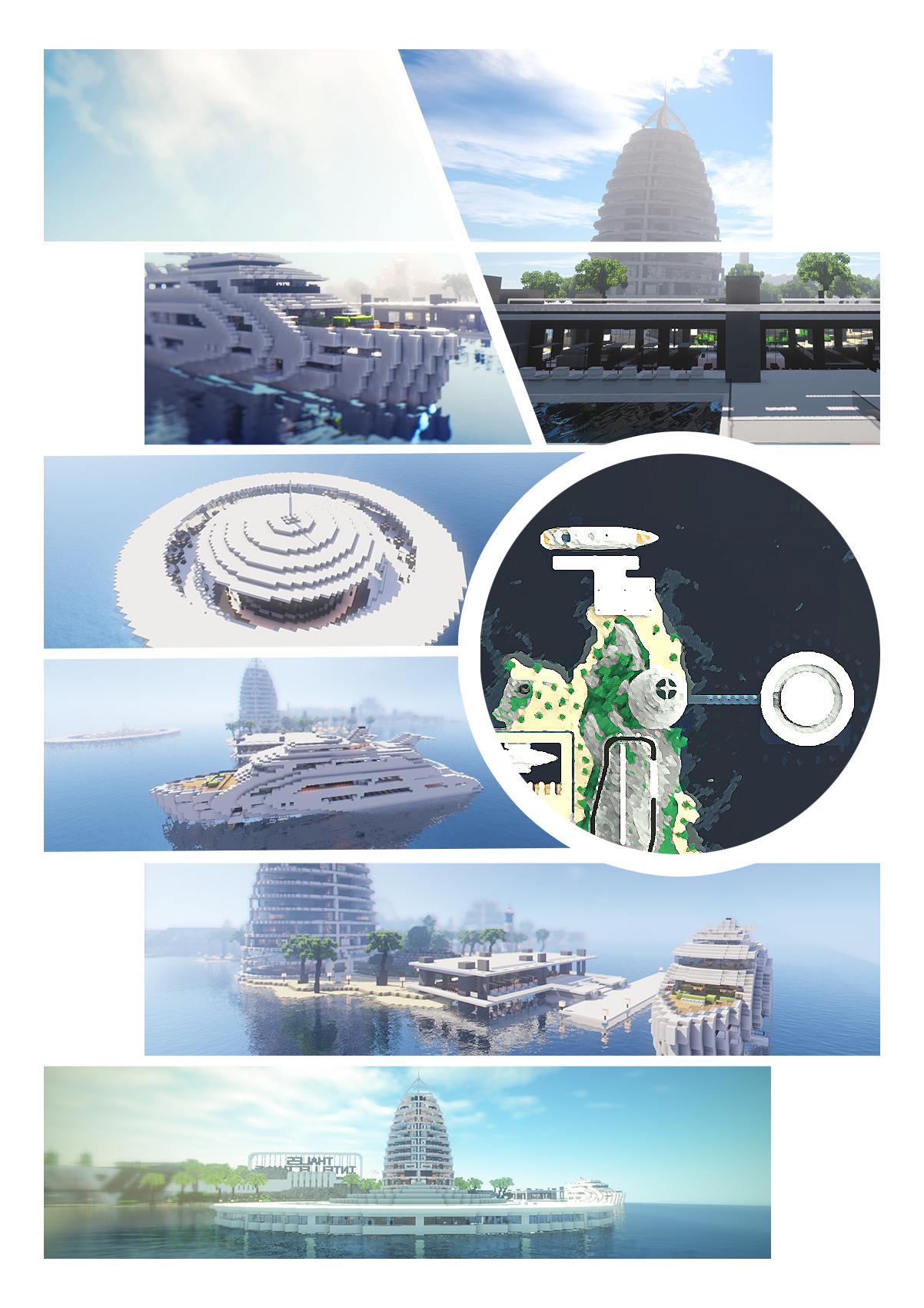 【我的别墅现代建筑群】海岛v别墅别墅--源梦岛自世界的建图片