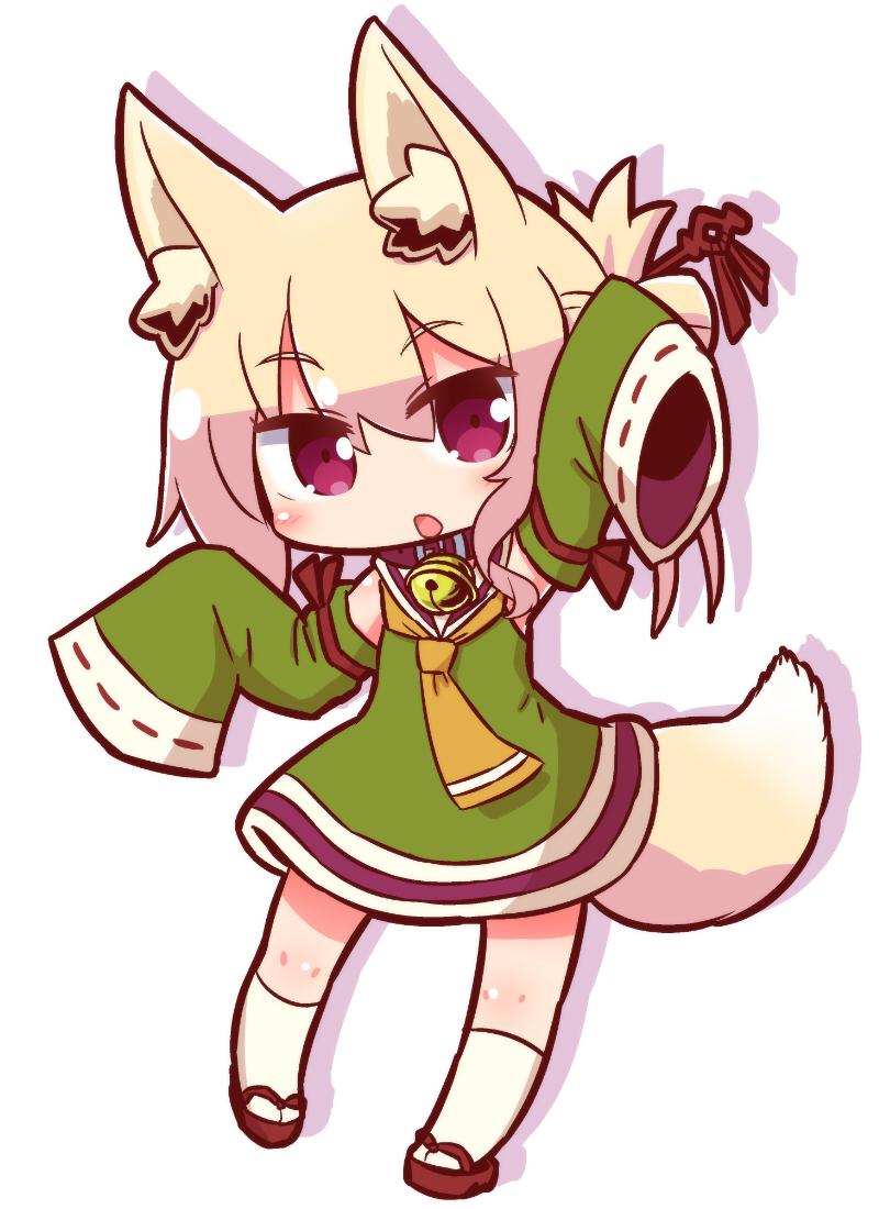 推特@naga_u_,狐狸原名:ケモミミちゃん(兽耳酱 读音就是kemomimi酱)图片