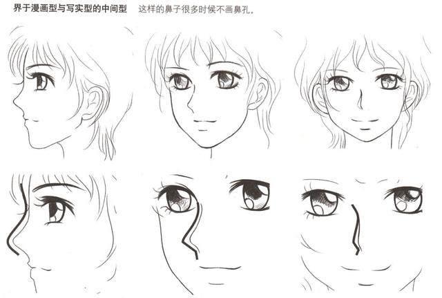零基础初学入门画漫画眼睛 鼻子 耳朵 嘴画法