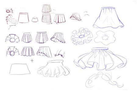 【全套】画二次元漫少女裙子有那些技巧图片