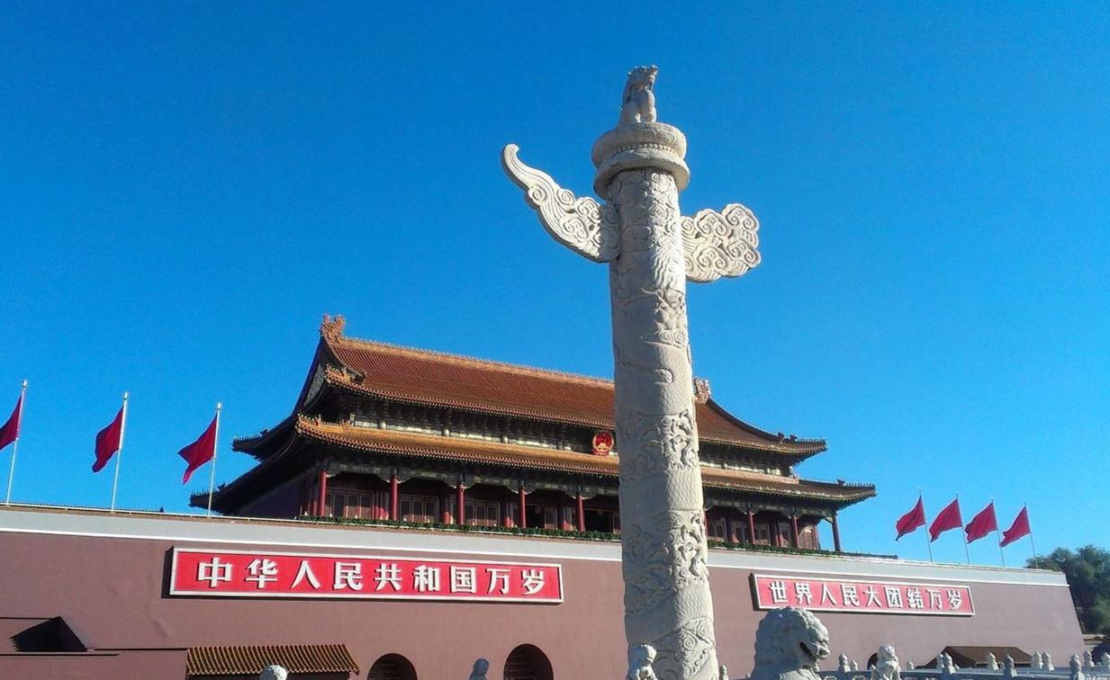 天安门前的两根大柱子有啥用?看完解开多年疑惑,佩服古人!图片