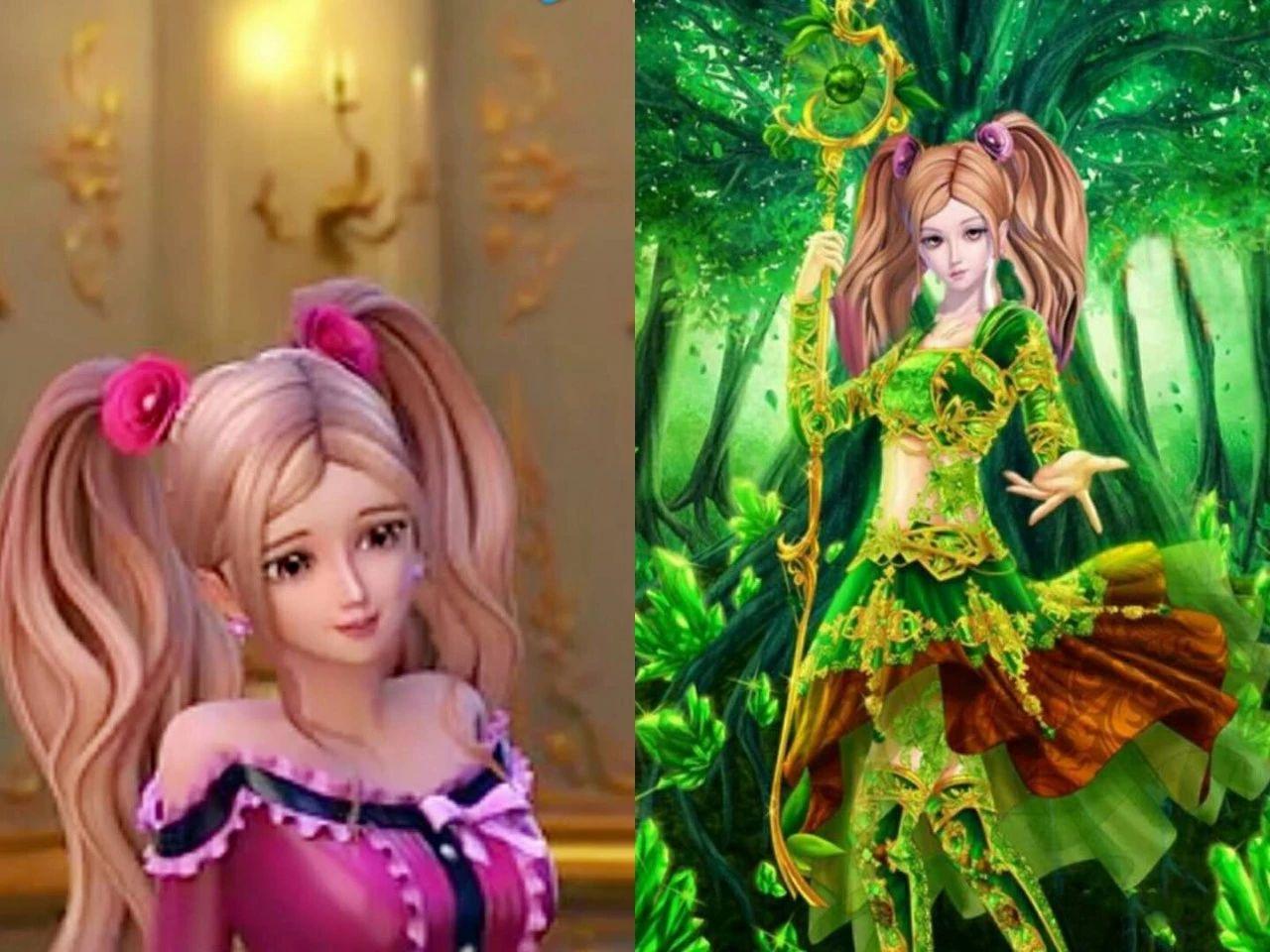 当叶罗丽女生换上公主装,王默很女人味,白光莹像新娘!