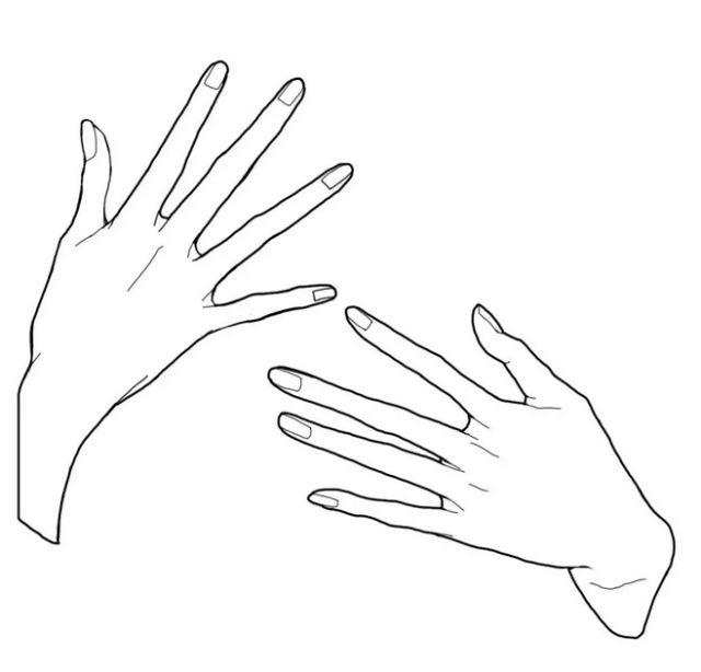 在手背添加骨骼线条会更突出男性的力量性.图片