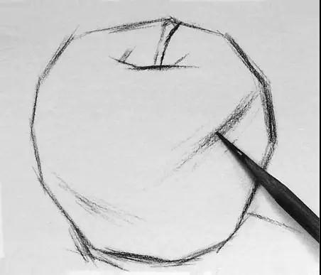 单个静物水果黑白灰