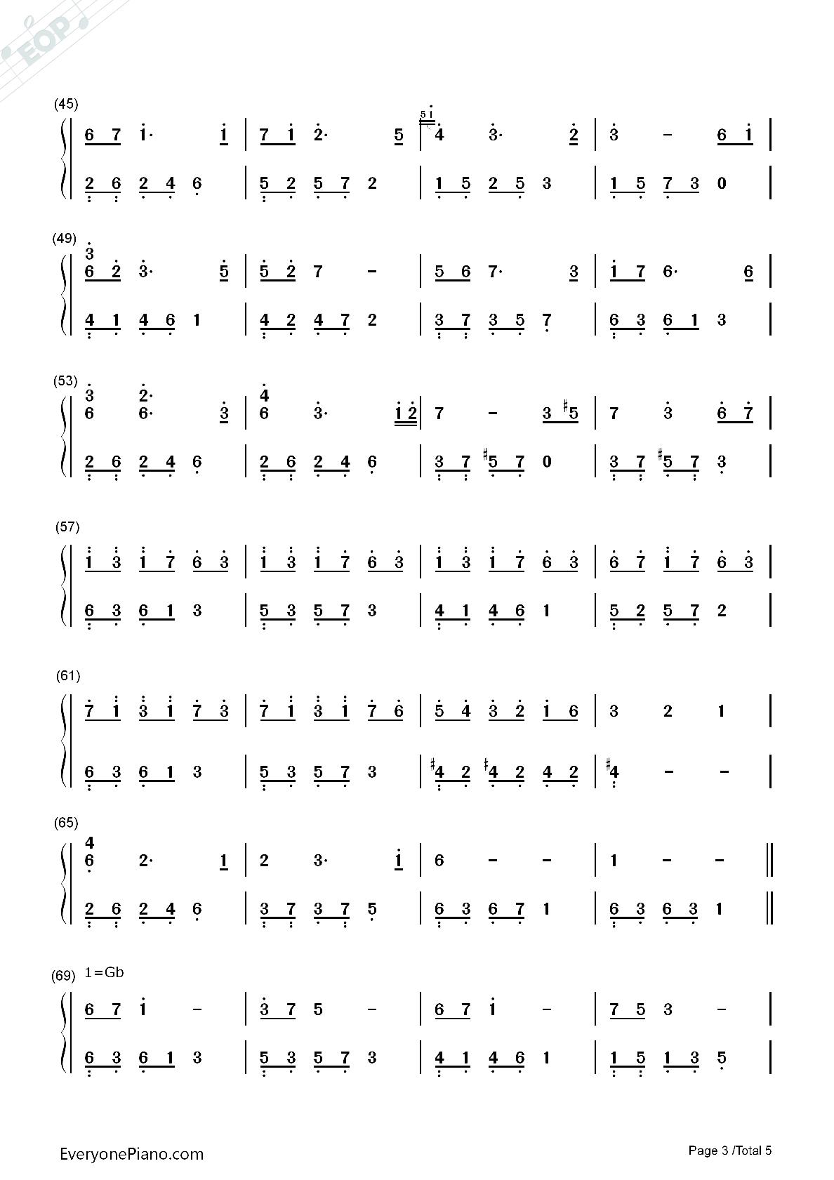 夜的钢琴曲雨葵双手简谱图片