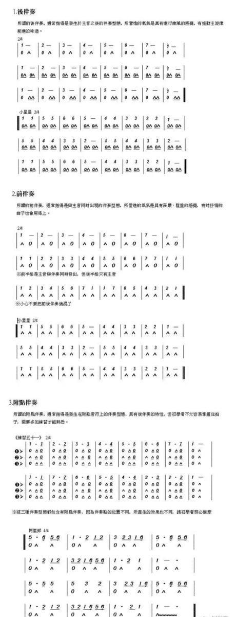 24孔口琴学习教程完整版图片