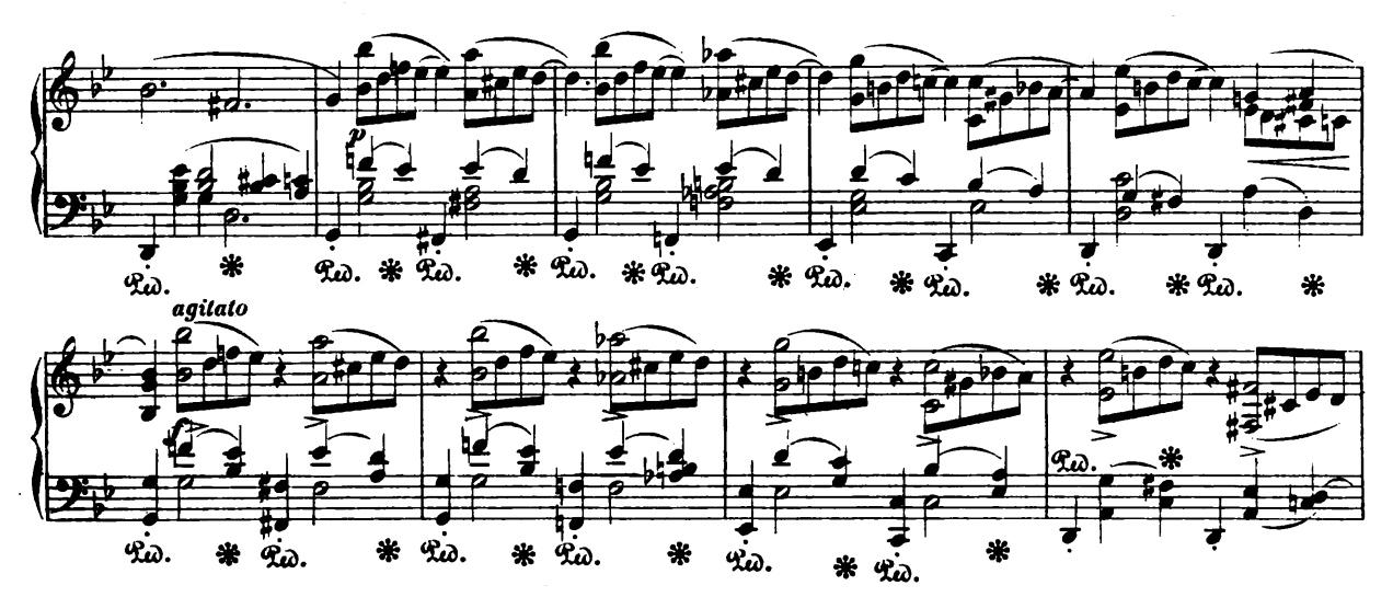曲谱旋律线_雨中旋律曲谱