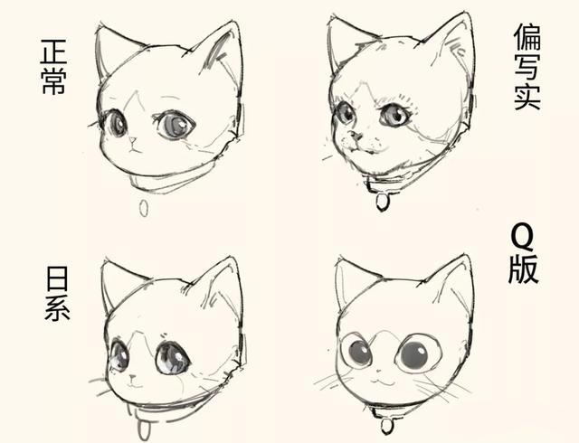 原画:画猫必备教程如何轻松画出很多只可爱的小猫?