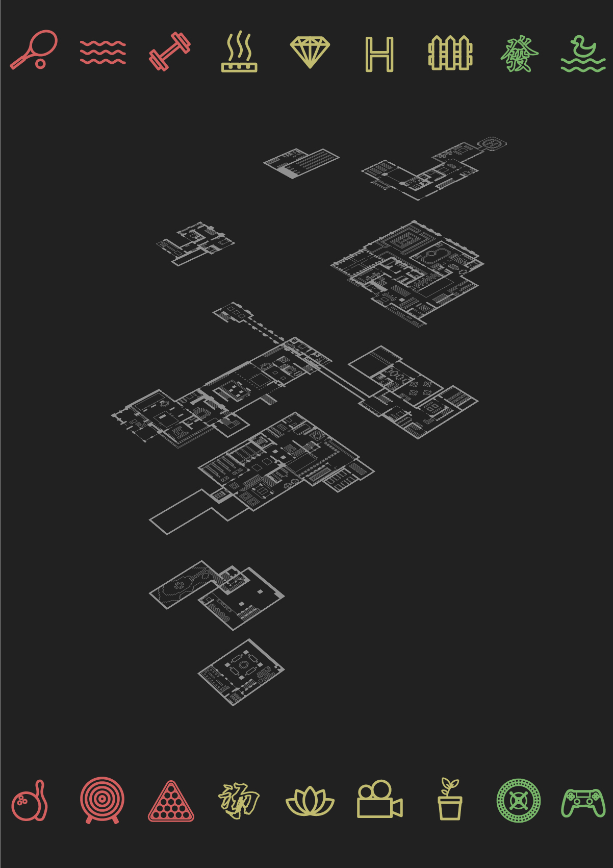 【我的别墅现代建筑群】海岛v别墅别墅--源梦岛济南院子世界大图片