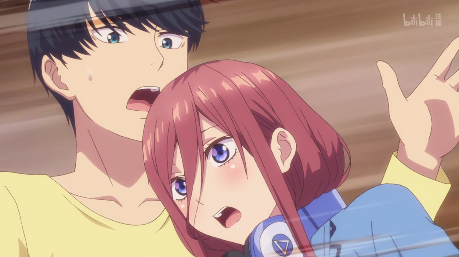 五等分的花嫁06集:一花撮合三玖和风太郎,三玖的表情很有趣!图片