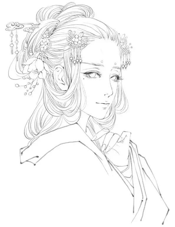 教你画古典美人:古风手绘插画技法入门教程