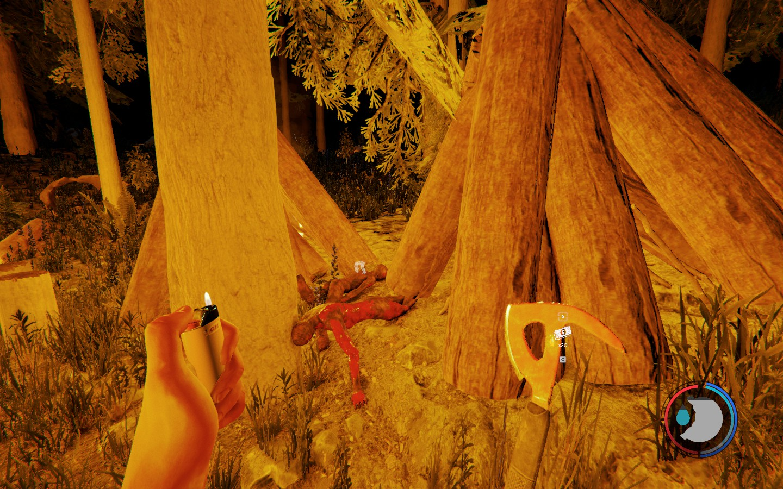 迷失森林——夜太黑,野人太可怕,那就在小屋周围布满火堆驱散黑暗吧!图片