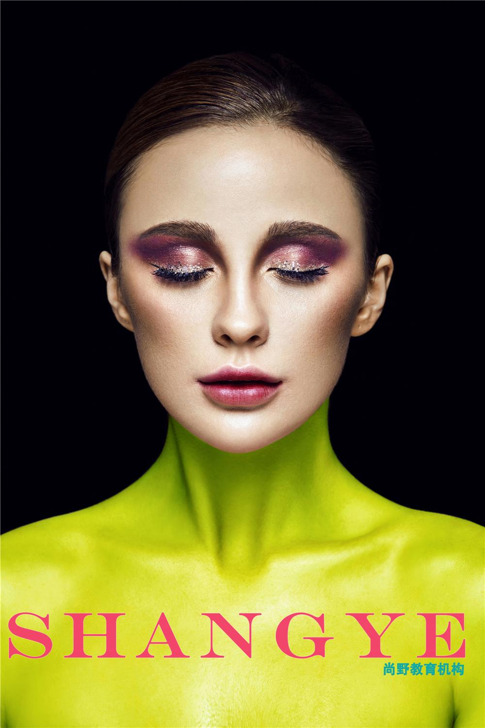 时尚创意彩妆灵感,宁波化妆学校彩妆作品赏析