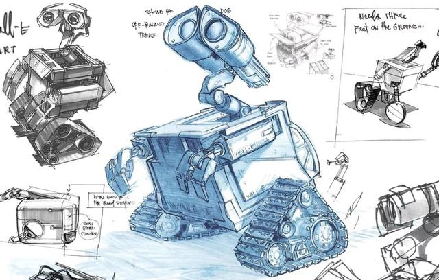《机器人总动员》原画欣赏,只是草稿的