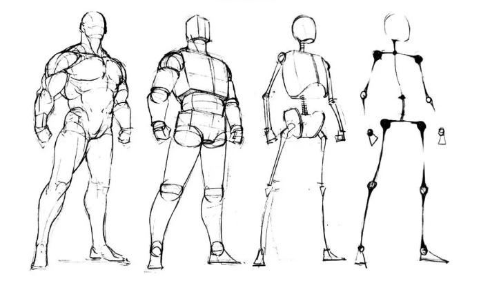 超级漫画创作技法图解教程:动态人物衣褶的画法