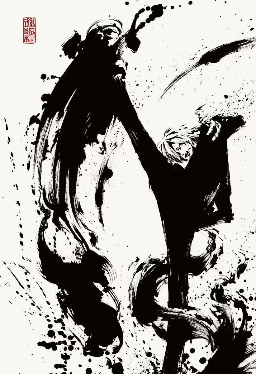 生病墨风来画漫画人物感觉动漫?日本墨冢不二用水是的图片