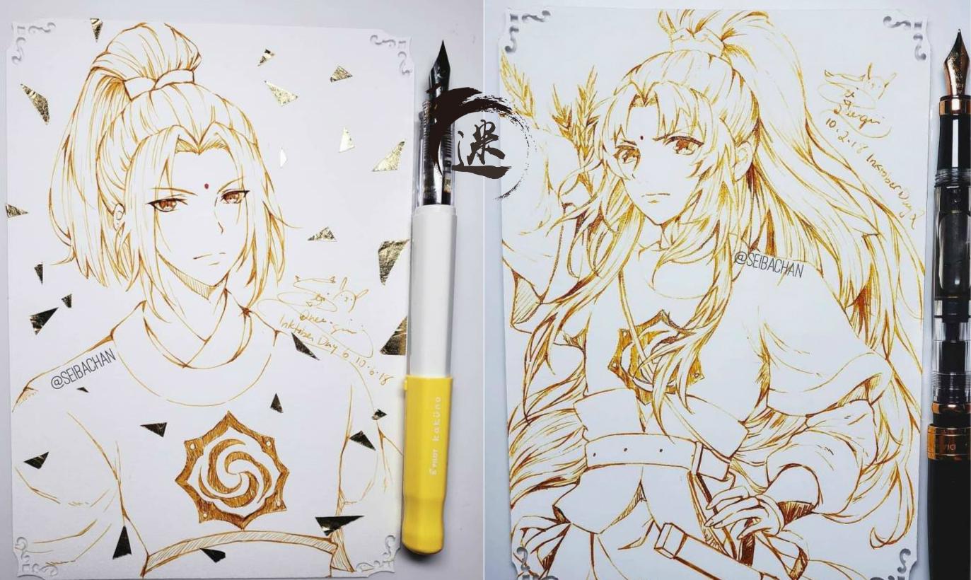 魔道钢笔:全员用女生说说的魔道祖师,短语到齐QQ描绘画师众人图片
