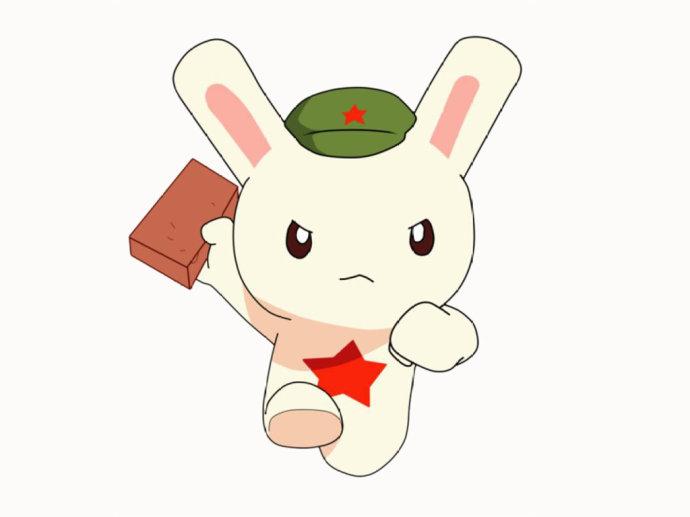 从一开始拿一匹砖头上战场到后面拥有了各种精良的武器,兔子既聪明图片