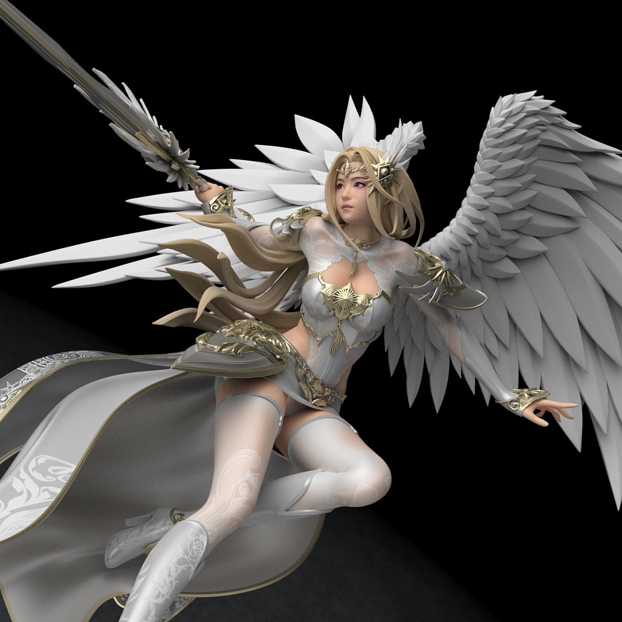 【壁纸】超美3d天使人物合集精美图片 338p 342m百度云下载