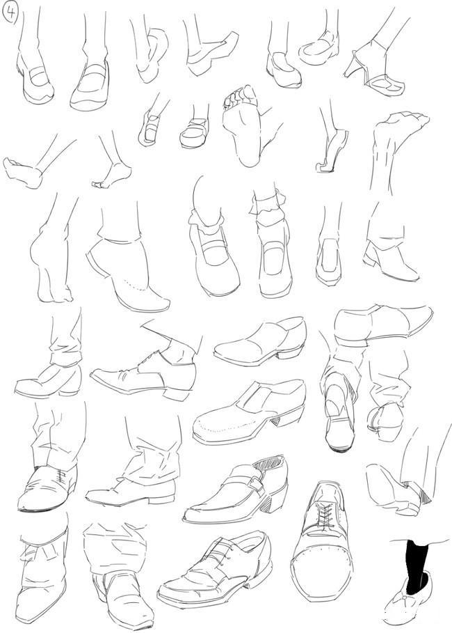 托���)�-_人字拖是比较好画的鞋子之一.