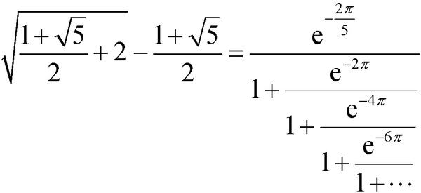 数学史上最美公式(一)——拉马努金黄金分割数公式